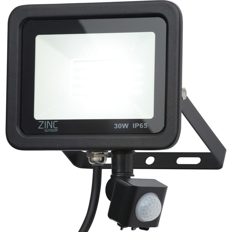 Zinc Slim LED PIR Floodlight IP65