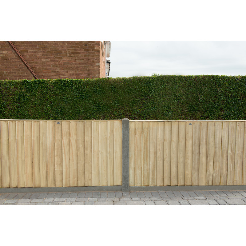 Forest Garden Pressure Treated Square Board  Fence Panel - 4 Pack