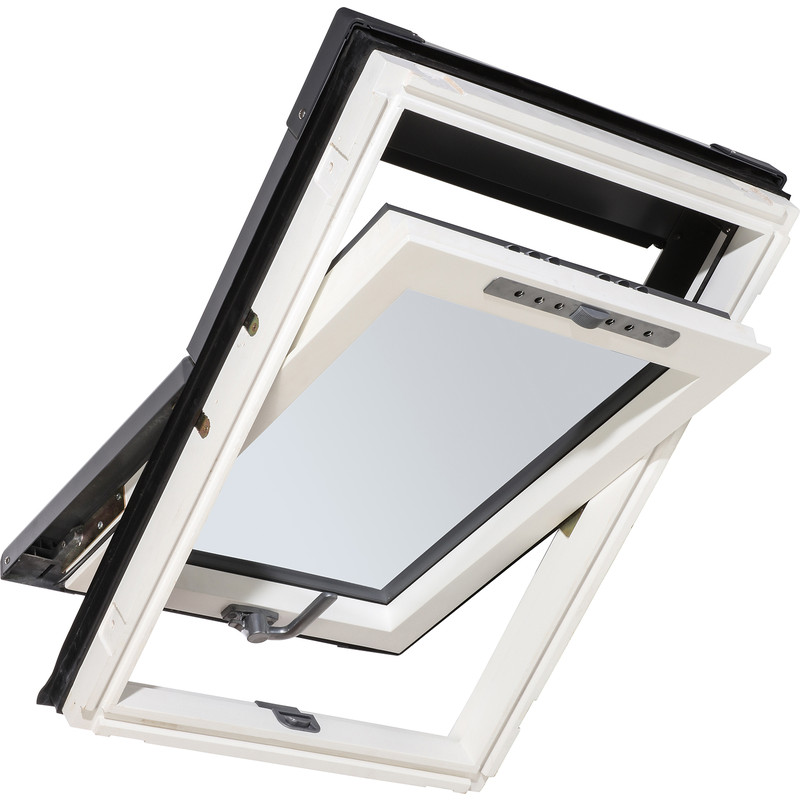 Manual Centre Pivot Clear Glazed Roof Window