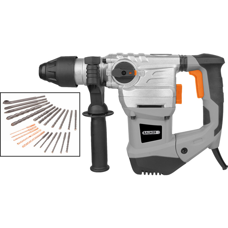 Bauker 1500W 32mm SDS Plus Rotary Hammer Drill