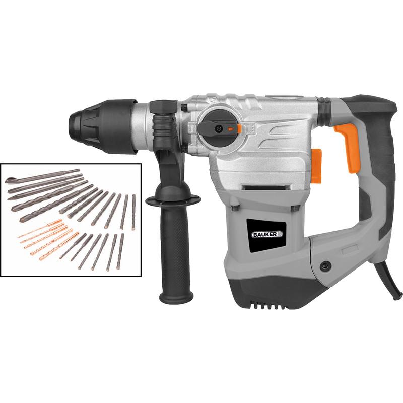 Bauker 1500W 32mm SDS Plus Rotary Hammer Drill 240V