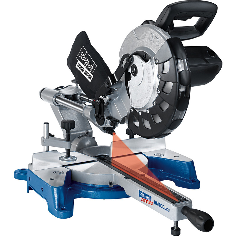 Scheppach HM100LXU 2000W 254mm Sliding Mitre Saw
