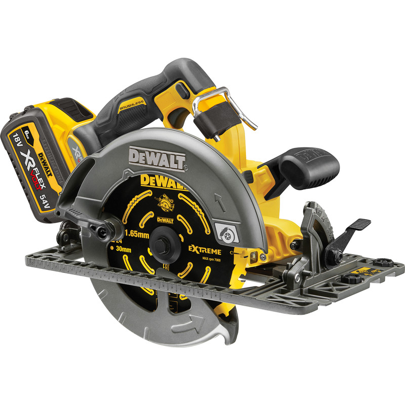DeWalt 54V XR FlexVolt High Power 190mm Circular Saw (fits rail)