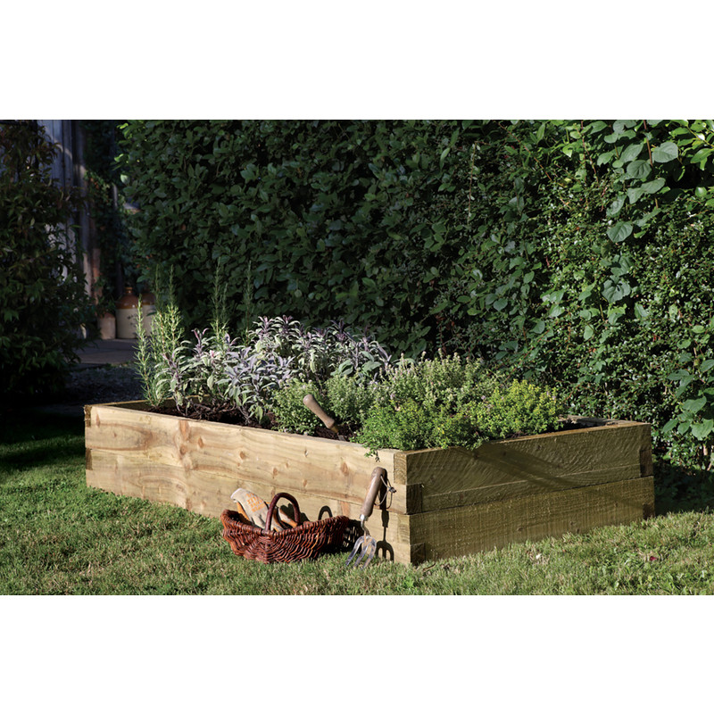 Forest Garden Caledonian Rectangular Raised Bed