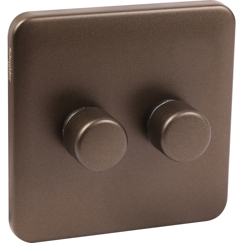 Schneider Lisse Mocha Bronze Screwless LED Dimmer