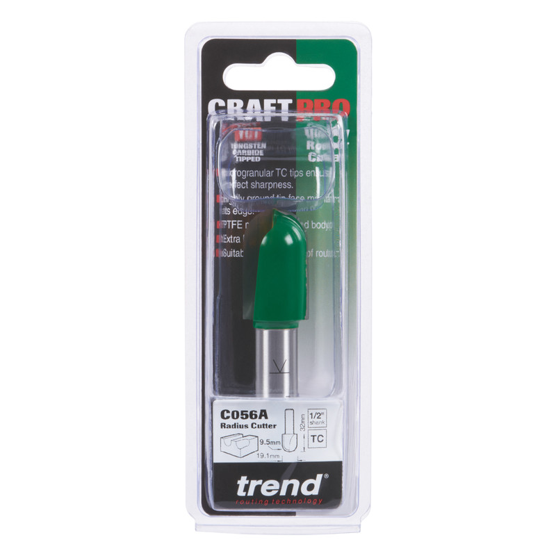 """Trend 1/2"""" Draining Groove Router Cutter"""
