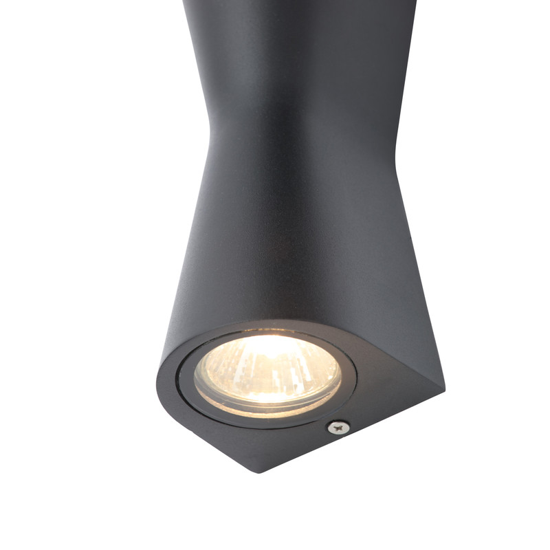 Skye Double Cone IP44 GU10 Wall Light