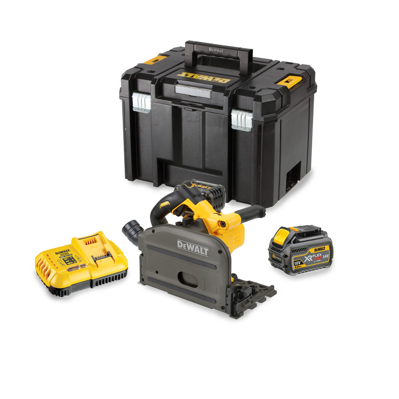 DeWalt DCS520T2-GB 54V XR FlexVolt Plunge Saw