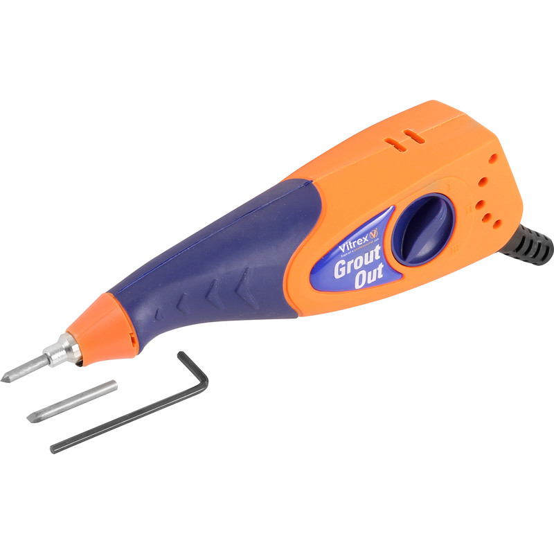 vitrex grout out electric grout remover 230v