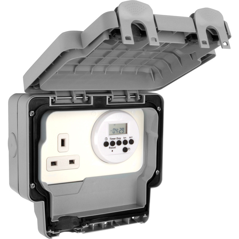 MK IP66 Masterseal Plus Timer Socket