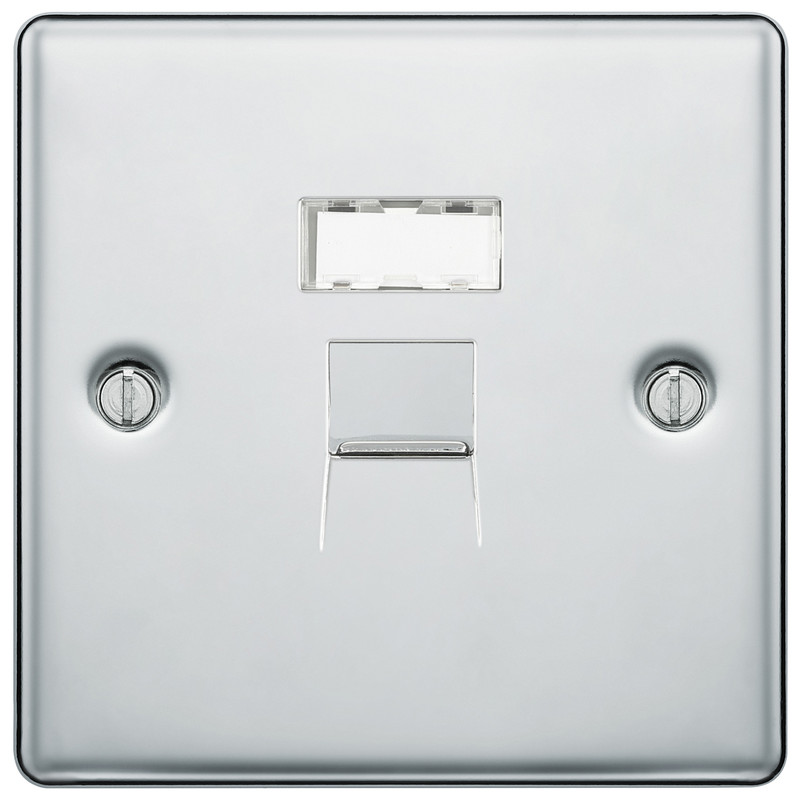 BG Polished Chrome Telephone Socket