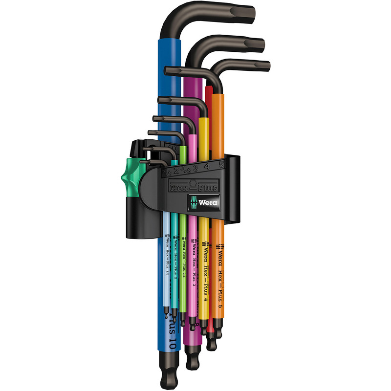 Wera Ball End Multi Colour Hex Key Set