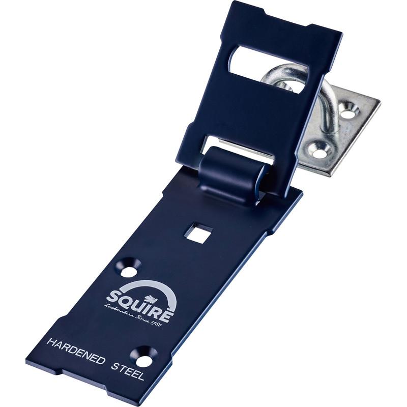 Squire Hardened Steel Hasp & Staple Black