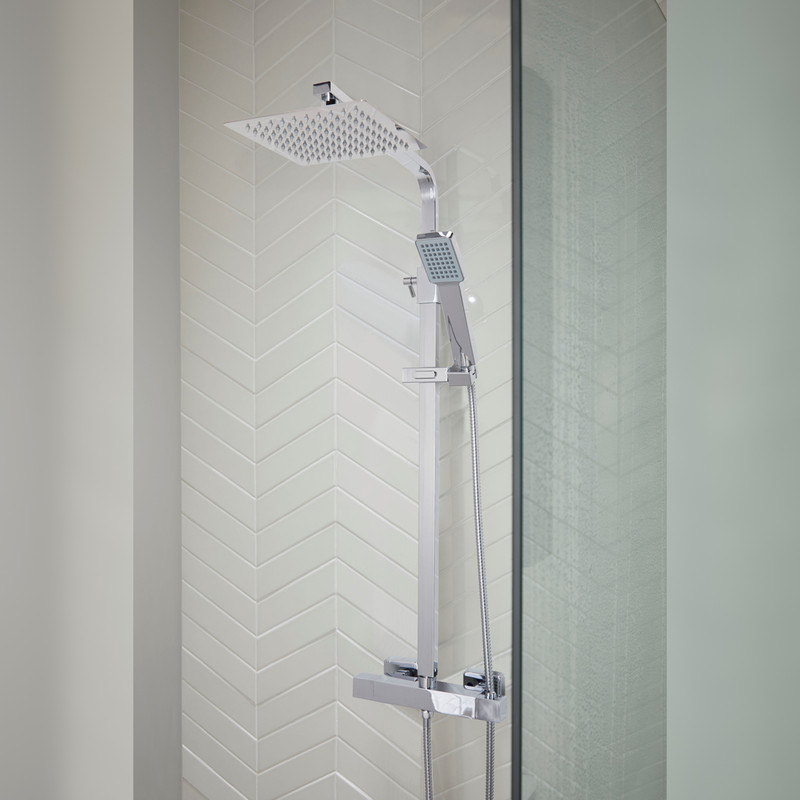 Orkney 2 Thermostatic Square Rain Mixer Shower Valve & Kit
