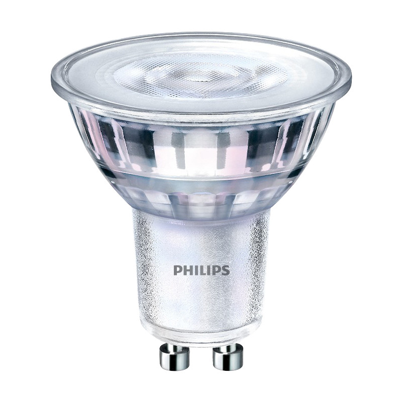 Philips LED GU10 Dimmable Glass Lamp 5W Warm White 350lm