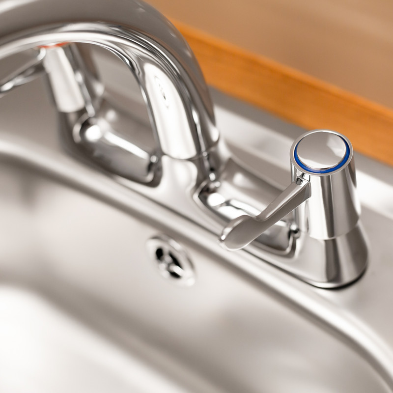 Ebb + Flo Contract Lever Deck Mixer Kitchen Tap