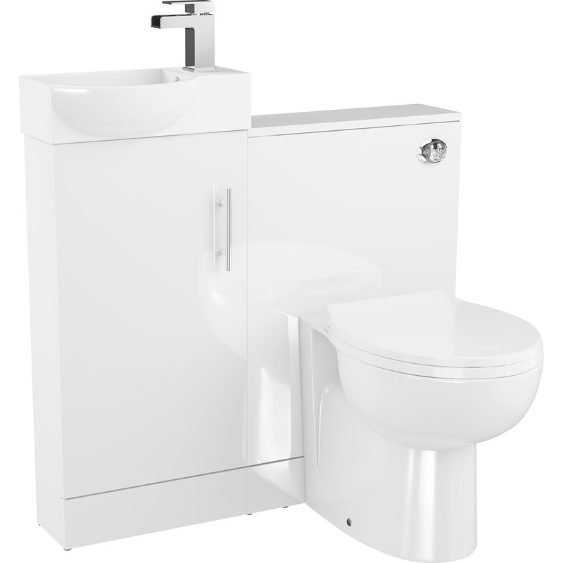 Single Door Semi-Recessed Bathroom Unit