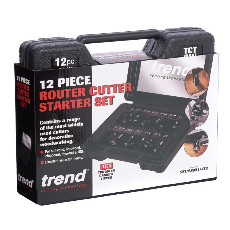 "Trend 1/4"" Router Cutter Set"