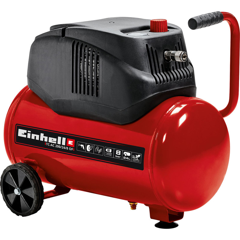 Einhell TC-AC200/24/8 24L 1.6Hp Oil Free Air Compressor