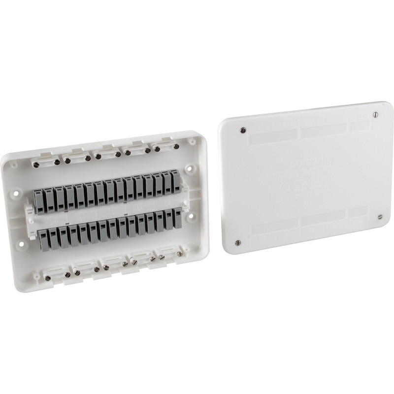 Surewire 4 Way Pre-wired Light & Switch Junction Box