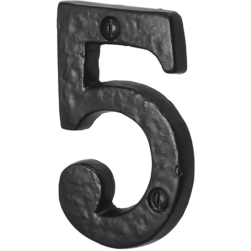 Old Hill Ironworks Door Numeral