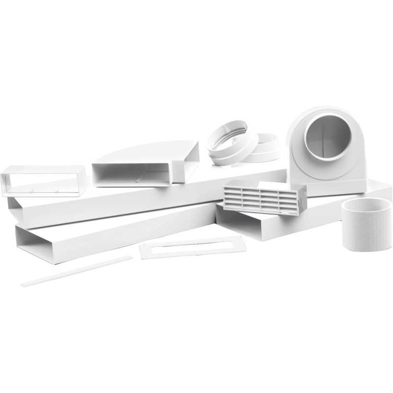 204mm Flat Channel Cooker Hood Kit