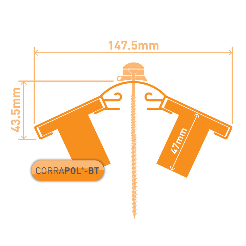 Corrapol-BT Aluminium Ridge Bar Set