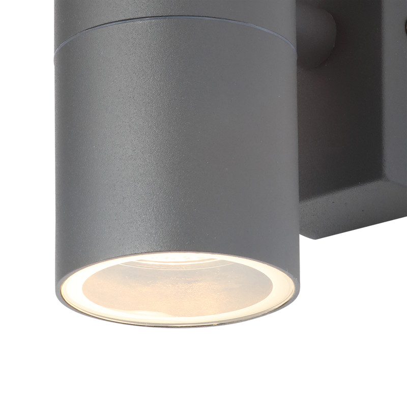 Leto Anthracite Stainless Steel Up & Down Wall Light IP44