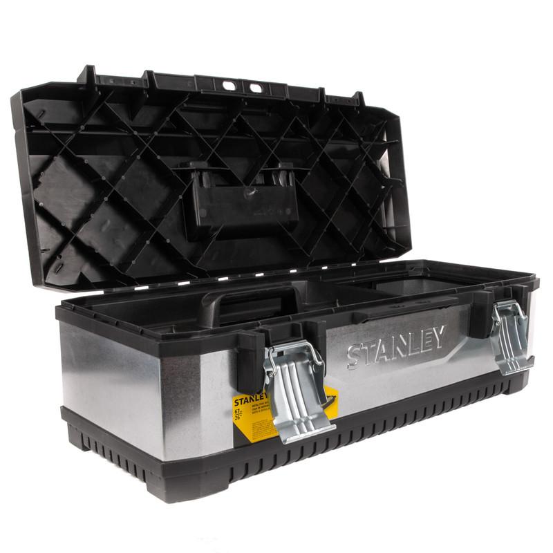 Stanley Galvanised Metal Plastic Toolbox