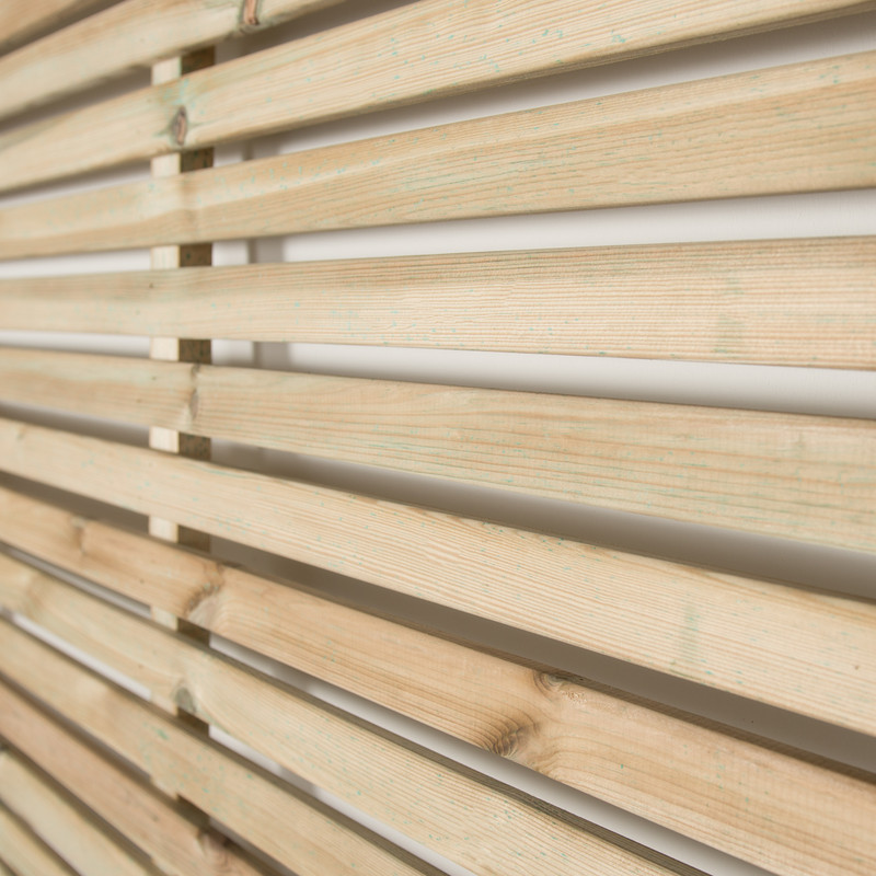 Forest Garden Slatted Fence Panel - 5 Pack