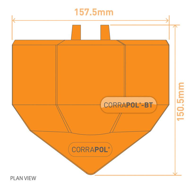 Corrapol-BT Aluminium Super Ridge Endcap