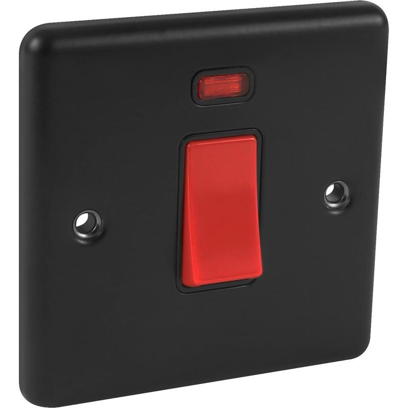 Wessex Matt Black 45A DP Switch