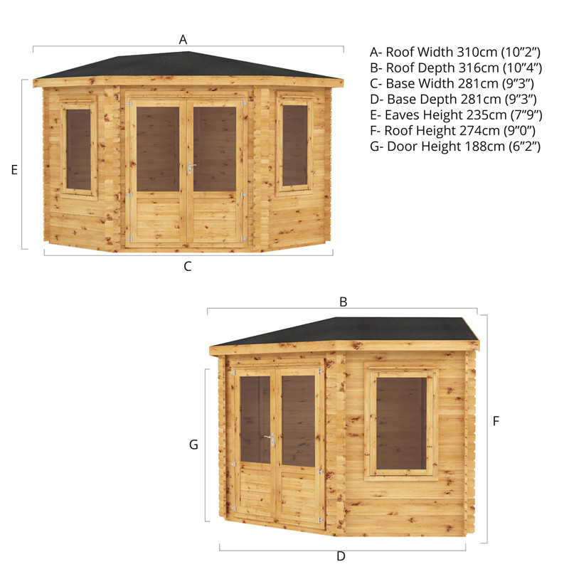 Mercia Corner Cabin - 28mm