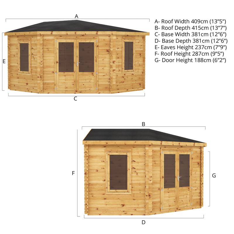 Mercia Corner Cabin - 34mm