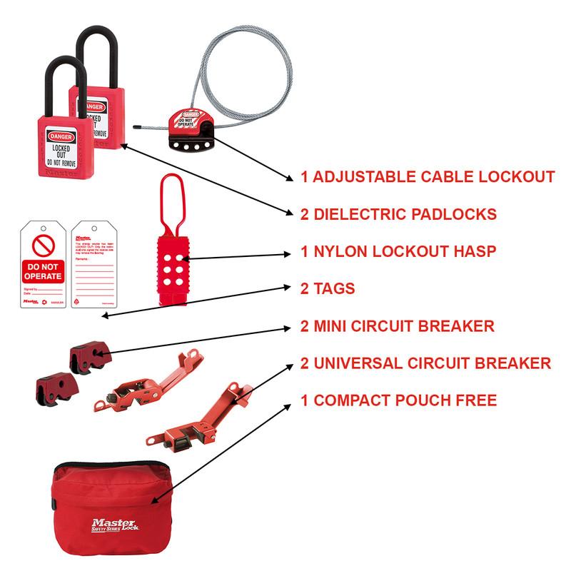 Master Lock General Maintenance Lockout Kit