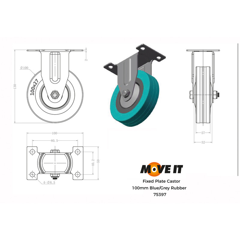 Fixed Wheel Castor