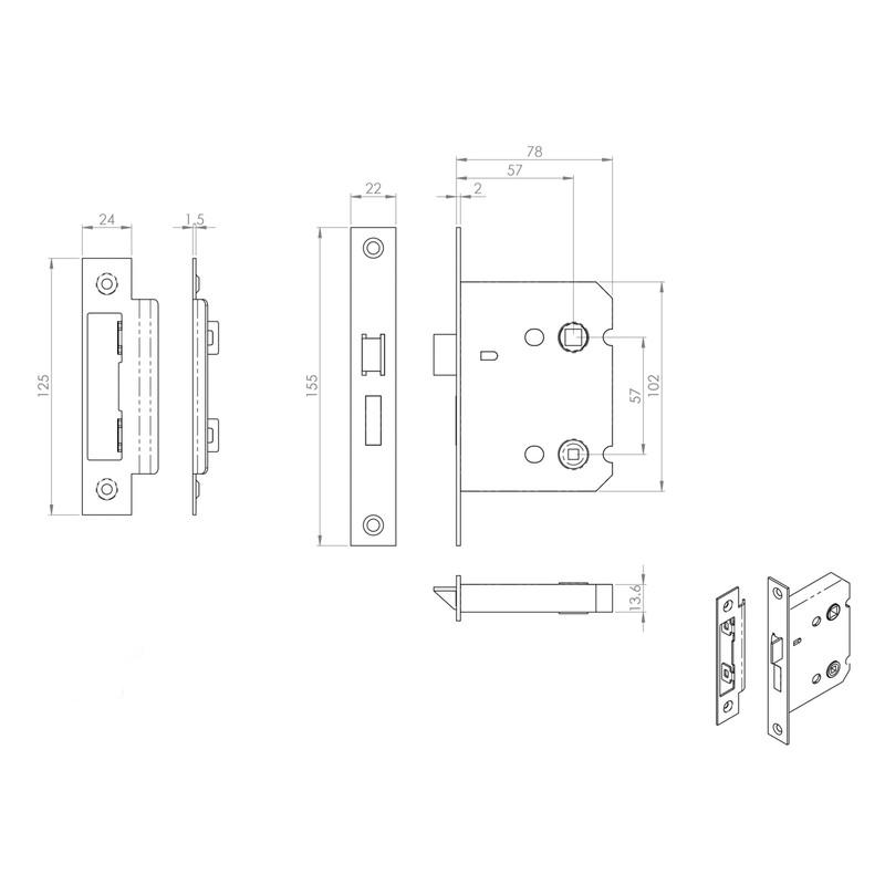 Eurospec Bathroom Lock