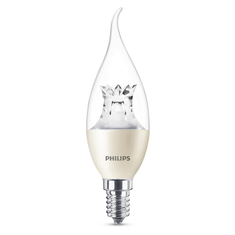 Philips LED Warm Glow 25W Dimmable Candle Lamp Bent Tip