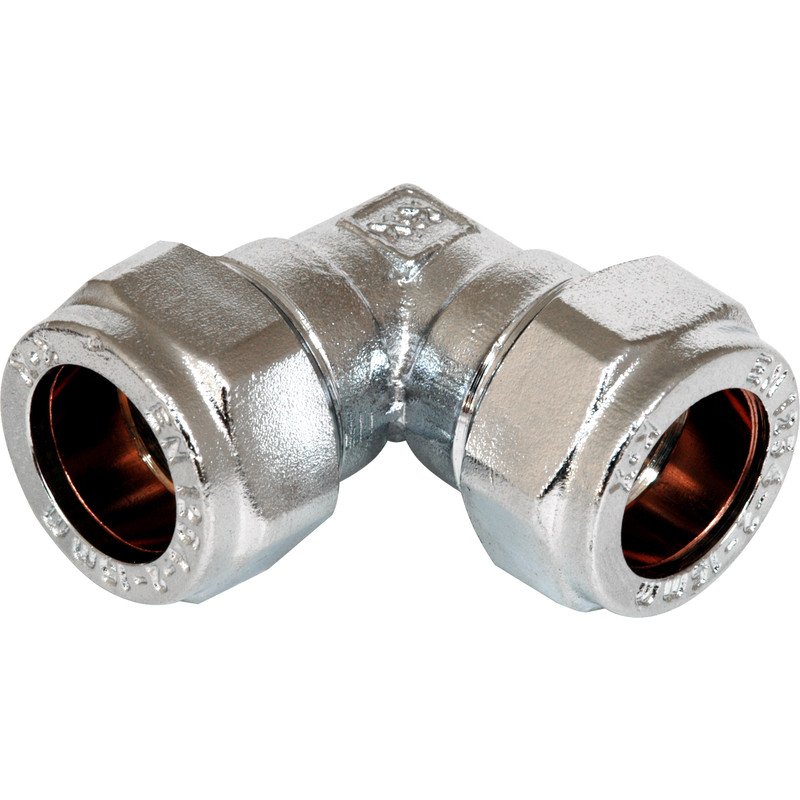 Compression Elbow Chrome Plated