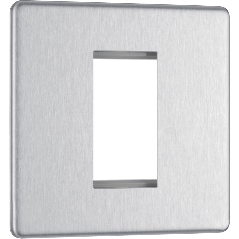 BG Screwless Flat Plate Brushed Stainless Steel Data Plate
