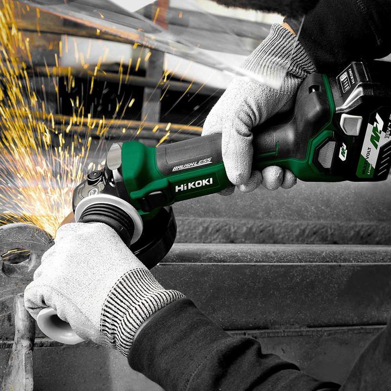 Hikoki 36V 125mm MultiVolt Brushless Grinder
