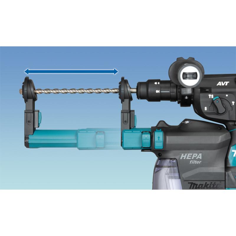 Makita XGT 40V Max Rotary Hammer with Dust Extractor
