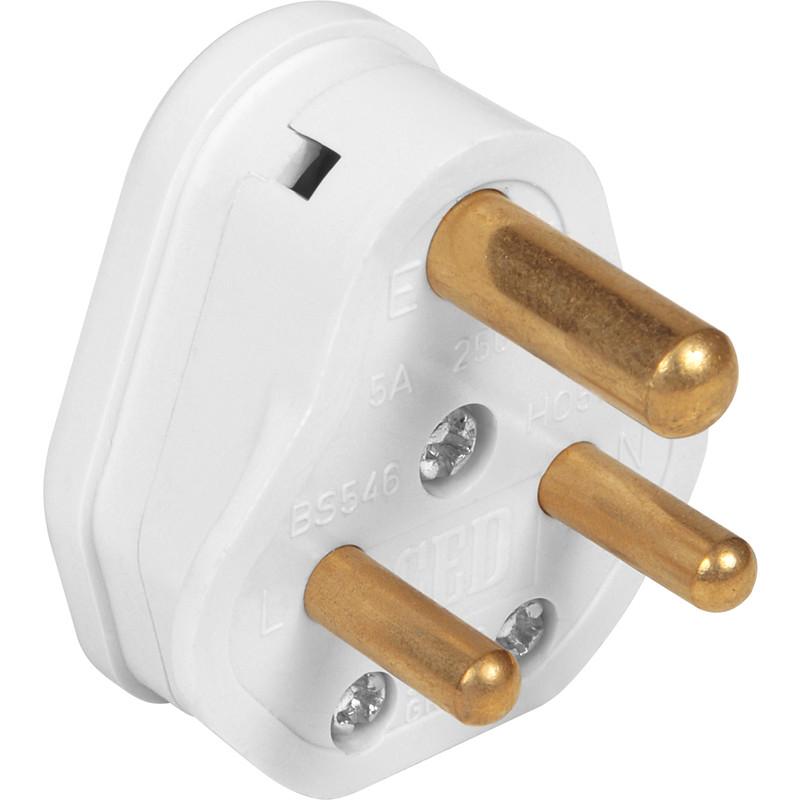 Plug Top Round 3 Pin Plug 5a