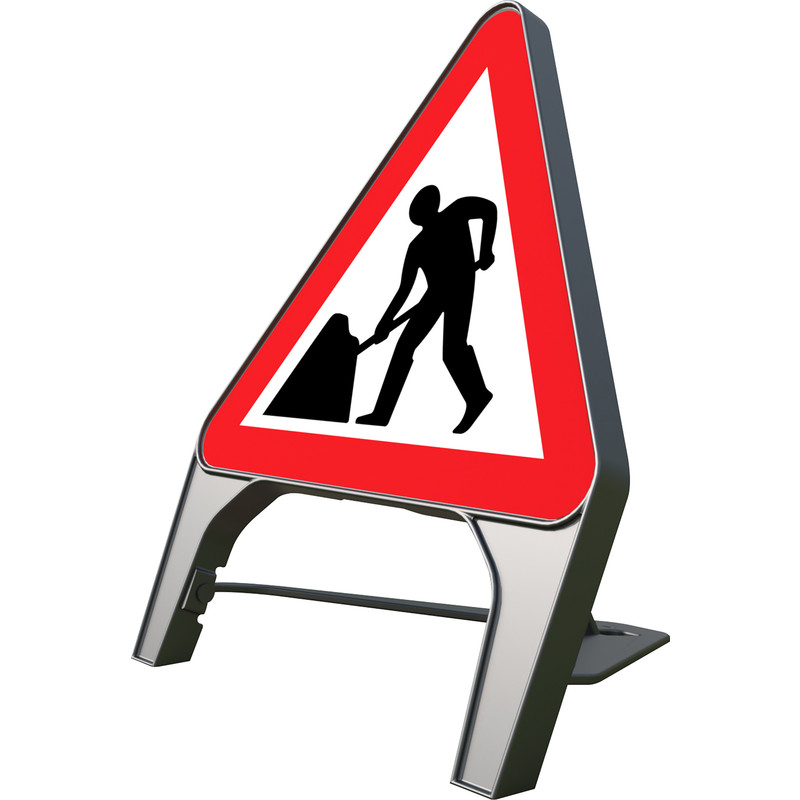 "Melba Swintex Q Sign ""Men At Work"" Traffic Sign"