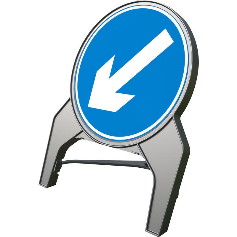 """Melba Swintex Q Sign """"Arrow Left"""" Traffic Sign"""