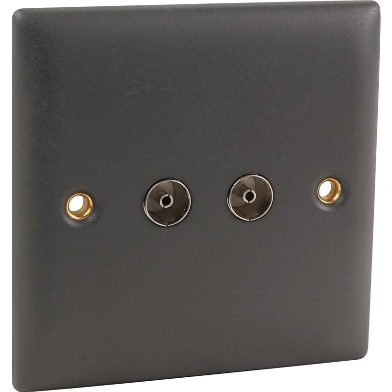 Power Pro Anthracite Coaxial Outlet