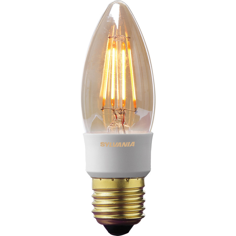 Sylvania LED Filament Effect Golden Dimmable Candle Lamp