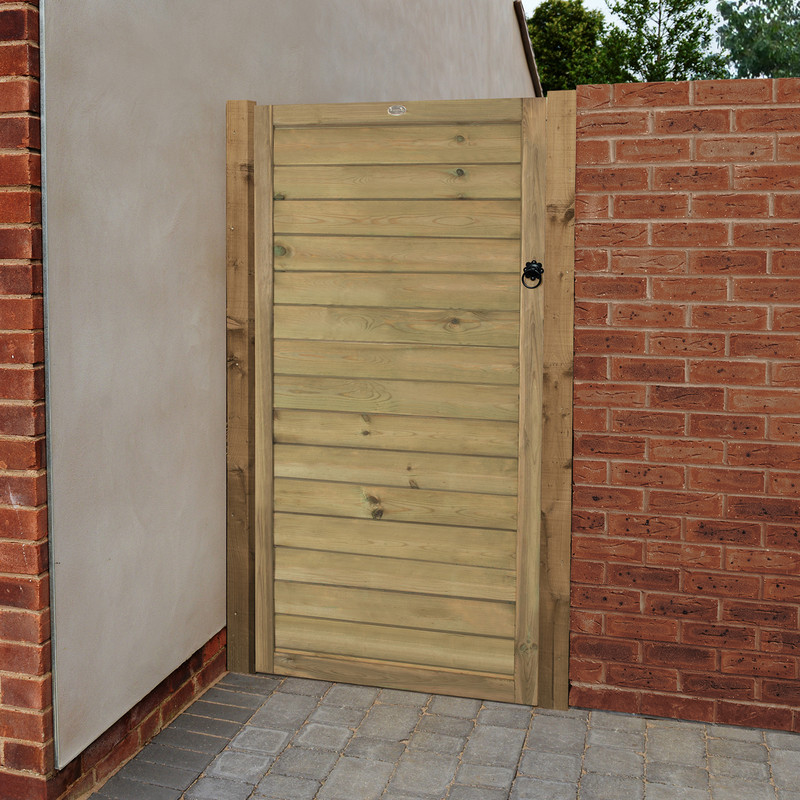 Forest Garden Horizontal Tongue And Groove Gate