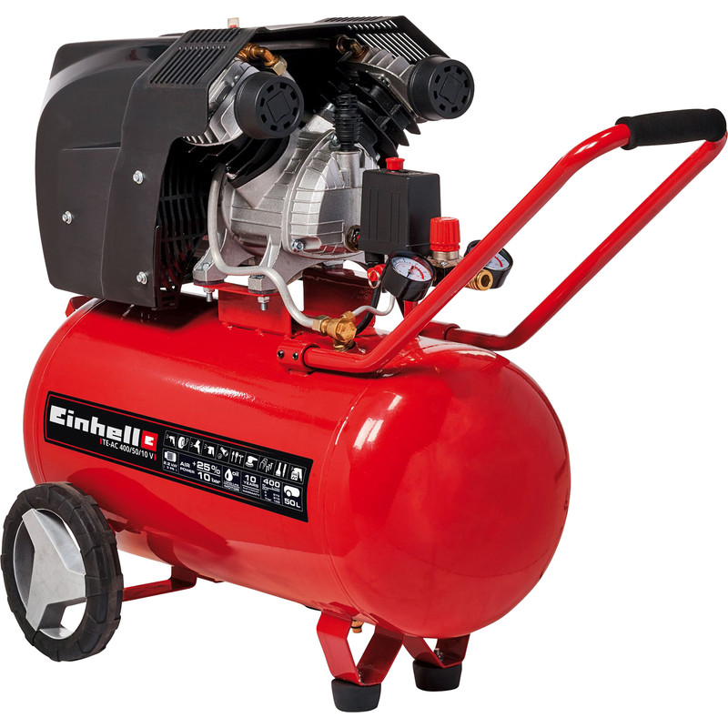 Einhell TE-AC 400/50/10 50L 3Hp V-Twin Air Compressor