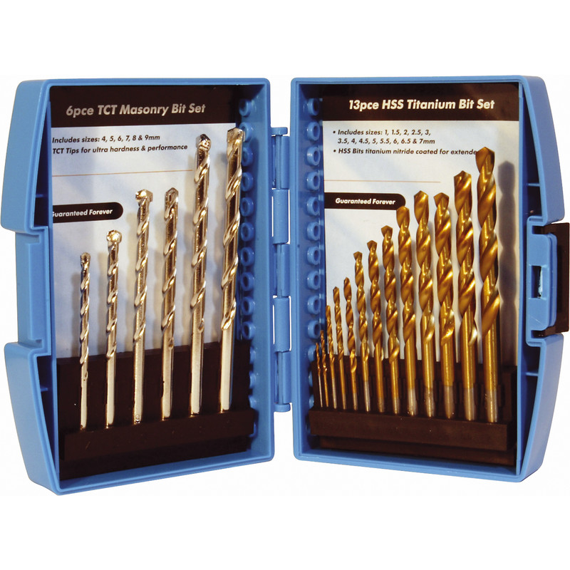HSS Titanium & TCT Masonry Drill Bit Set